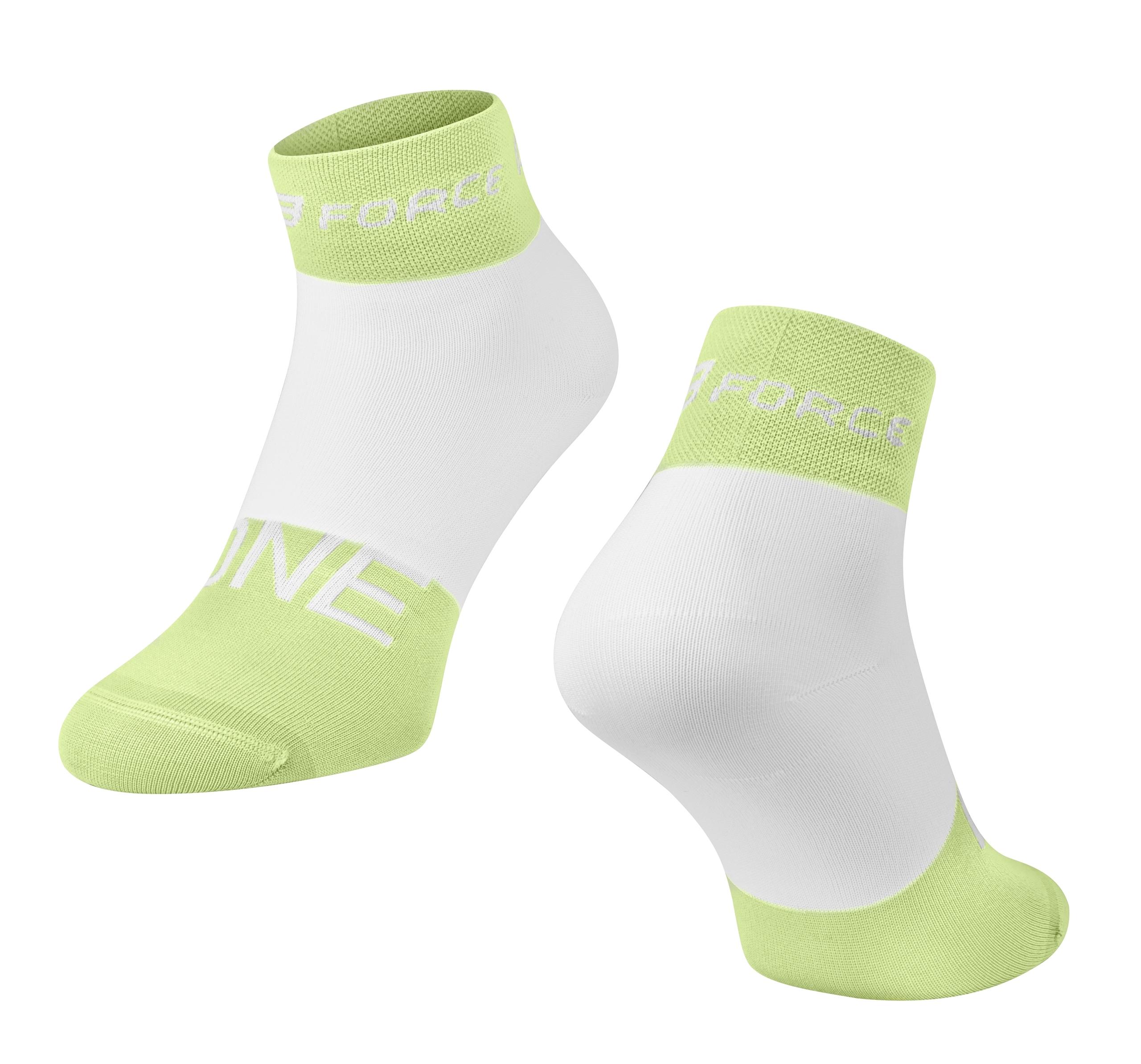 ponožky FORCE ONE, zeleno-bílé L-XL/42-47
