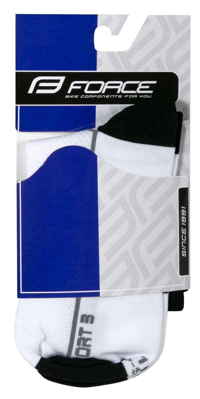 ponožky FORCE SPORT 3, bílo-černé S-M/36-41