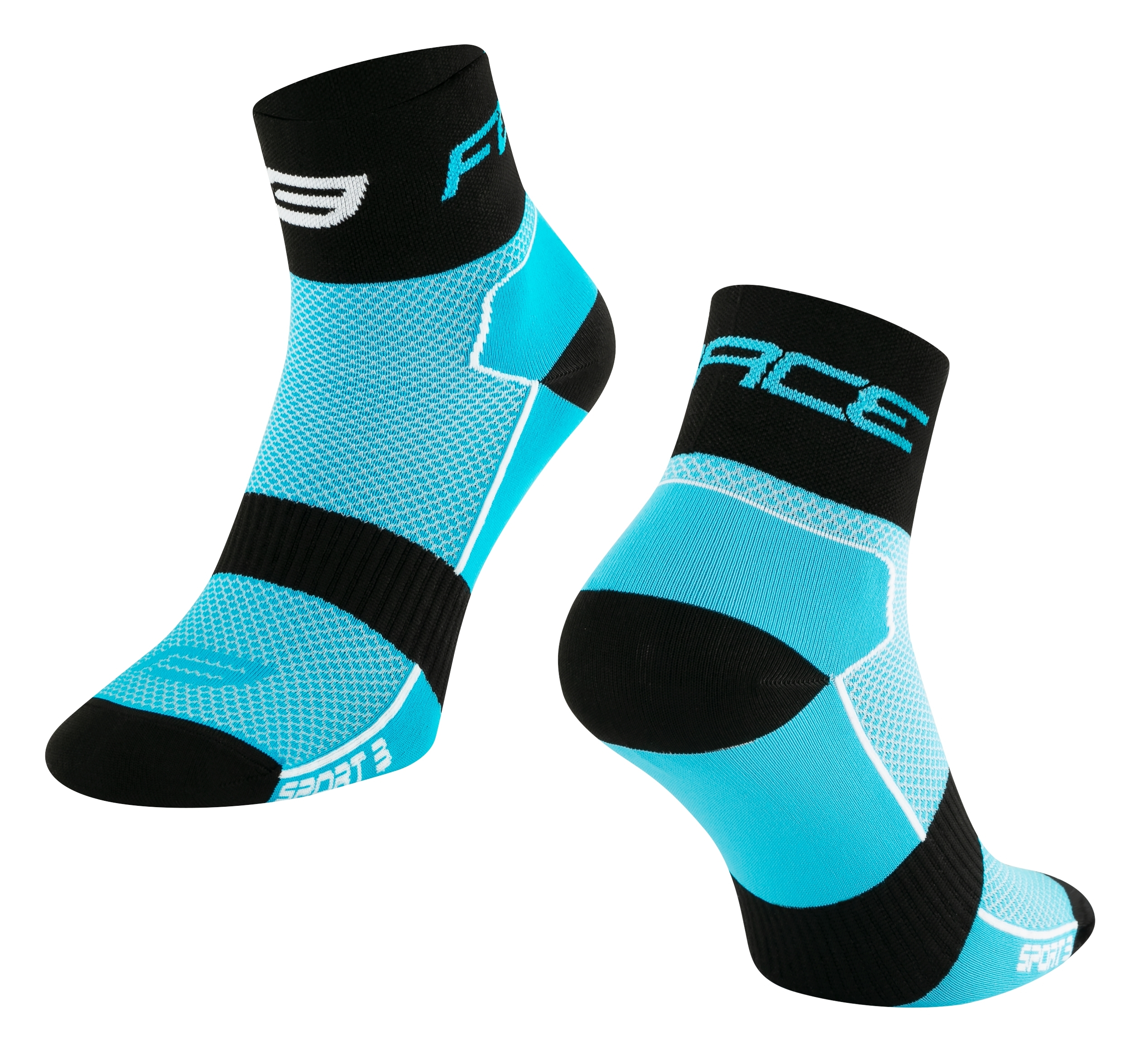 ponožky FORCE SPORT 3,modro-černé L-XL/42-46