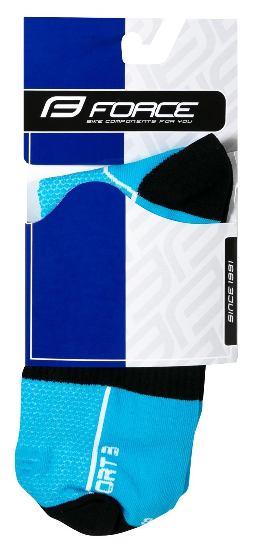 ponožky FORCE SPORT 3, modro-černé S-M/36-41