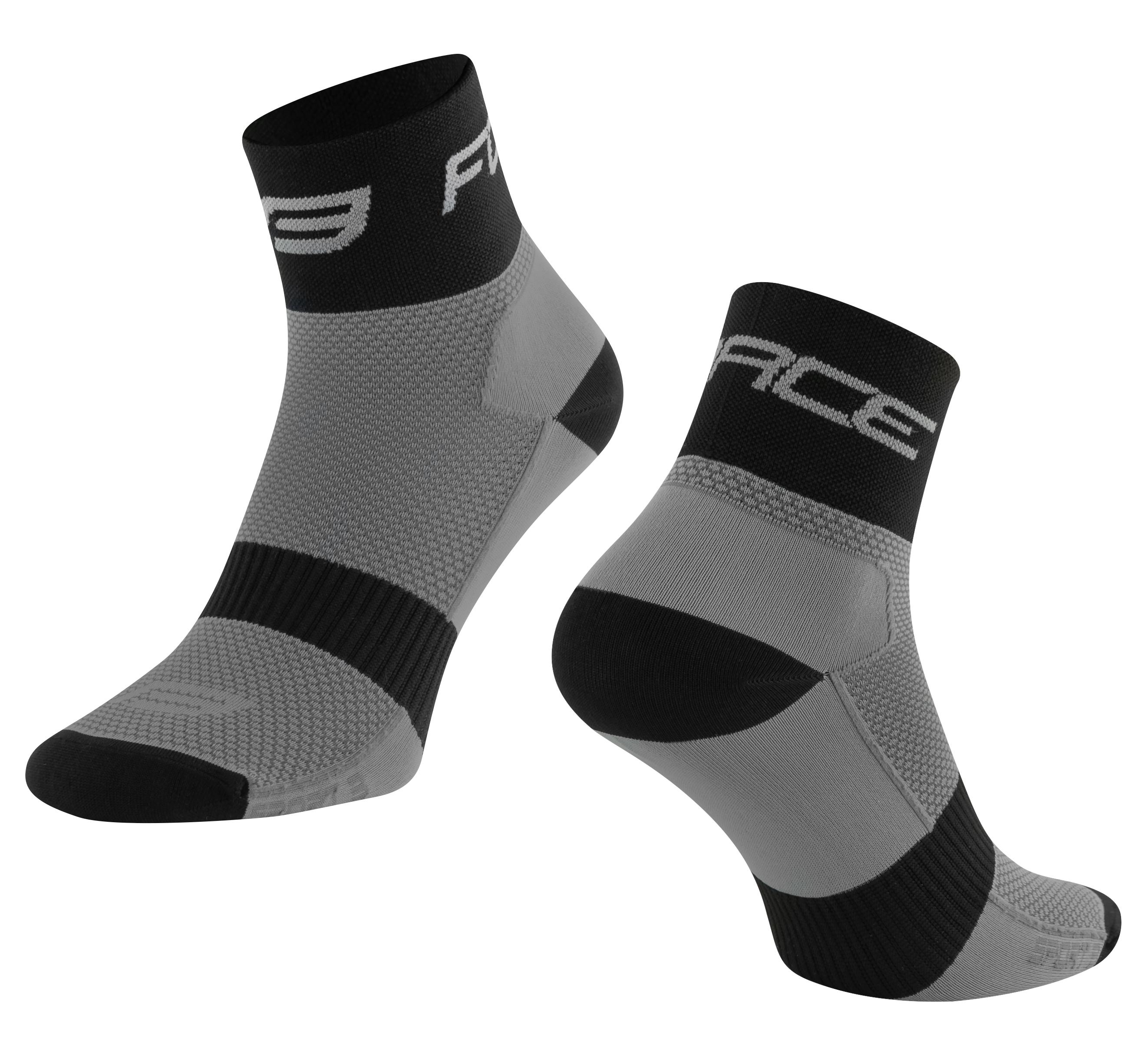 ponožky FORCE SPORT 3, šedo-černé L-XL/42-46