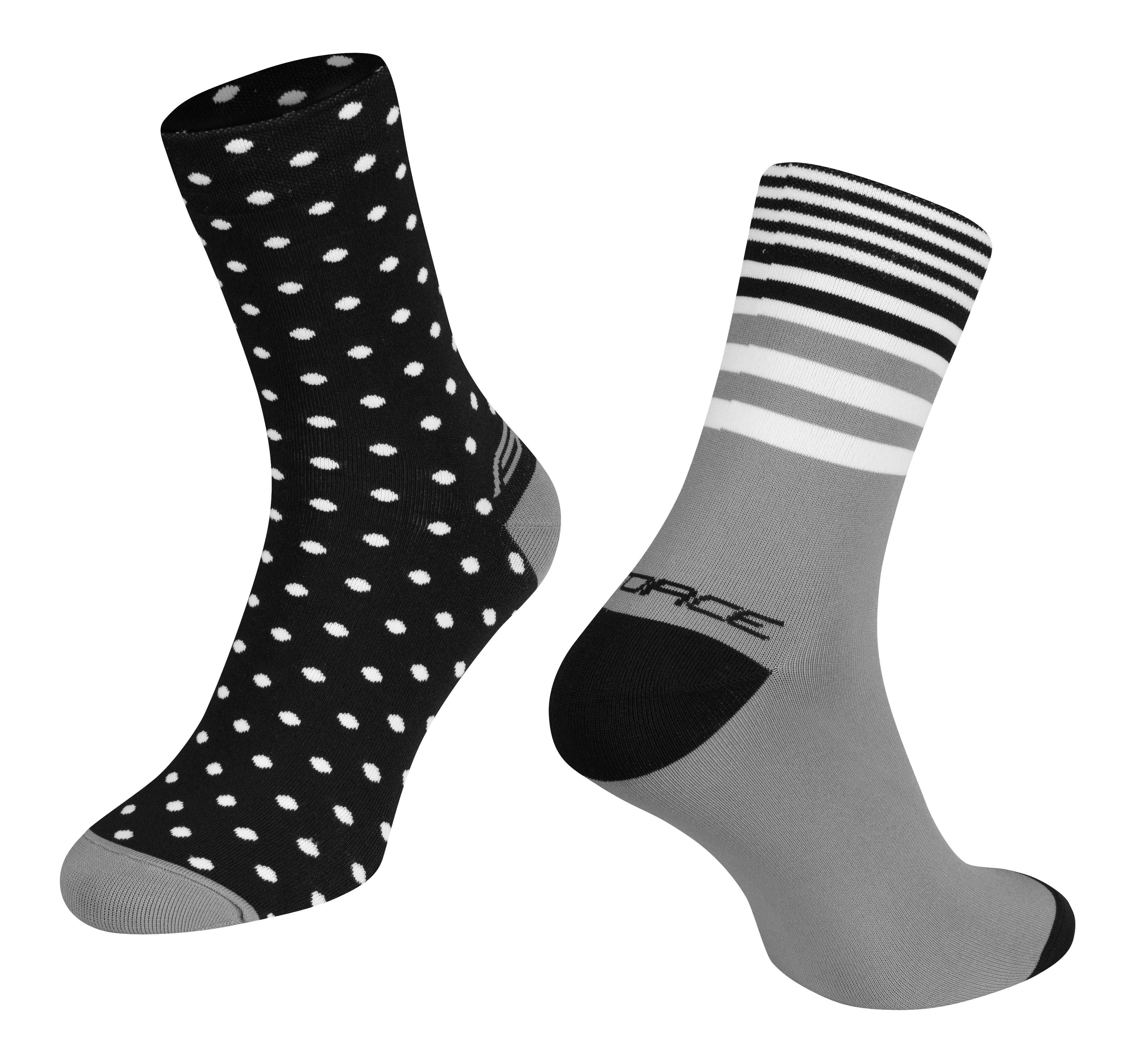ponožky FORCE SPOT, černo-šedé L-XL/42-46