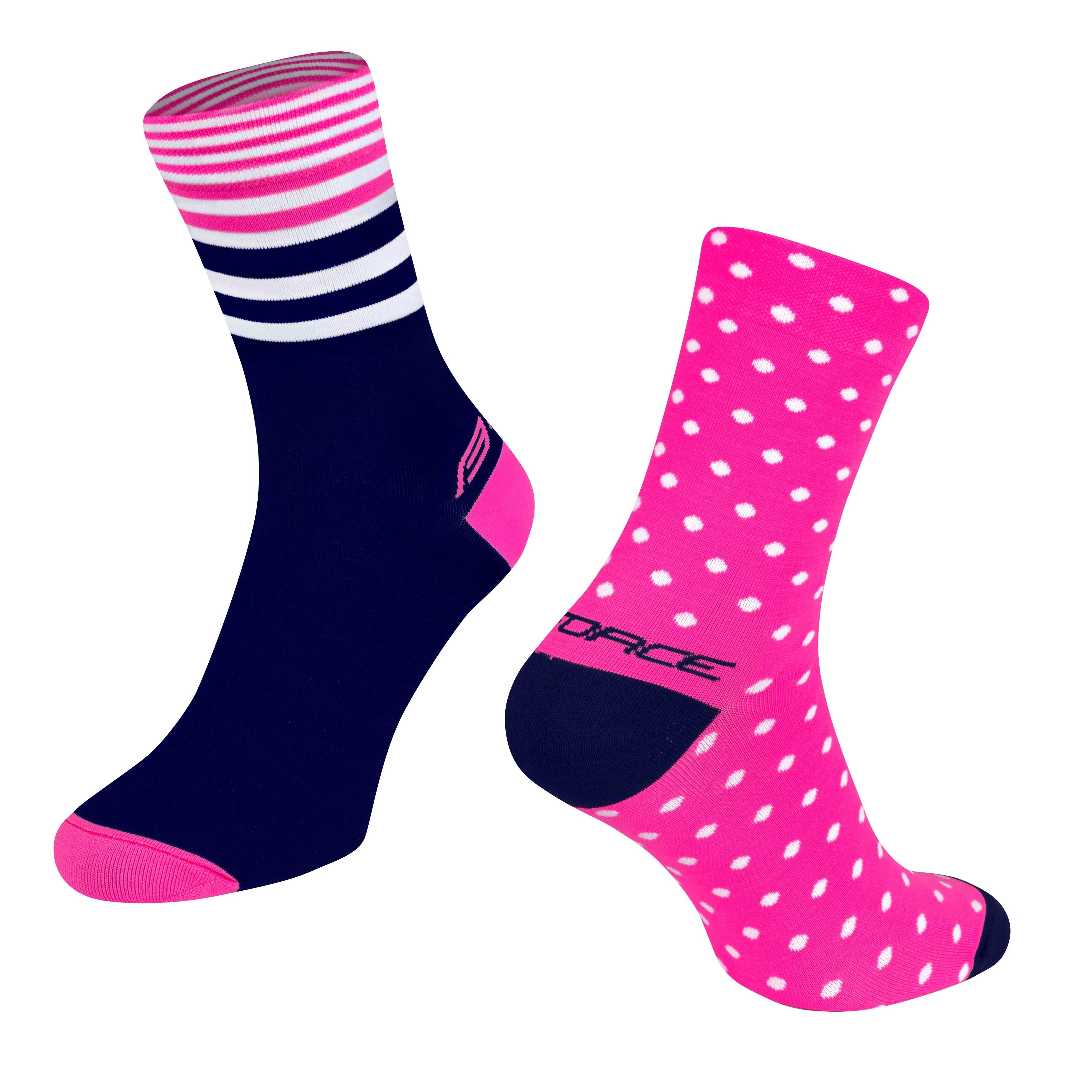 ponožky FORCE SPOT, růž.-modré S-M/36-41