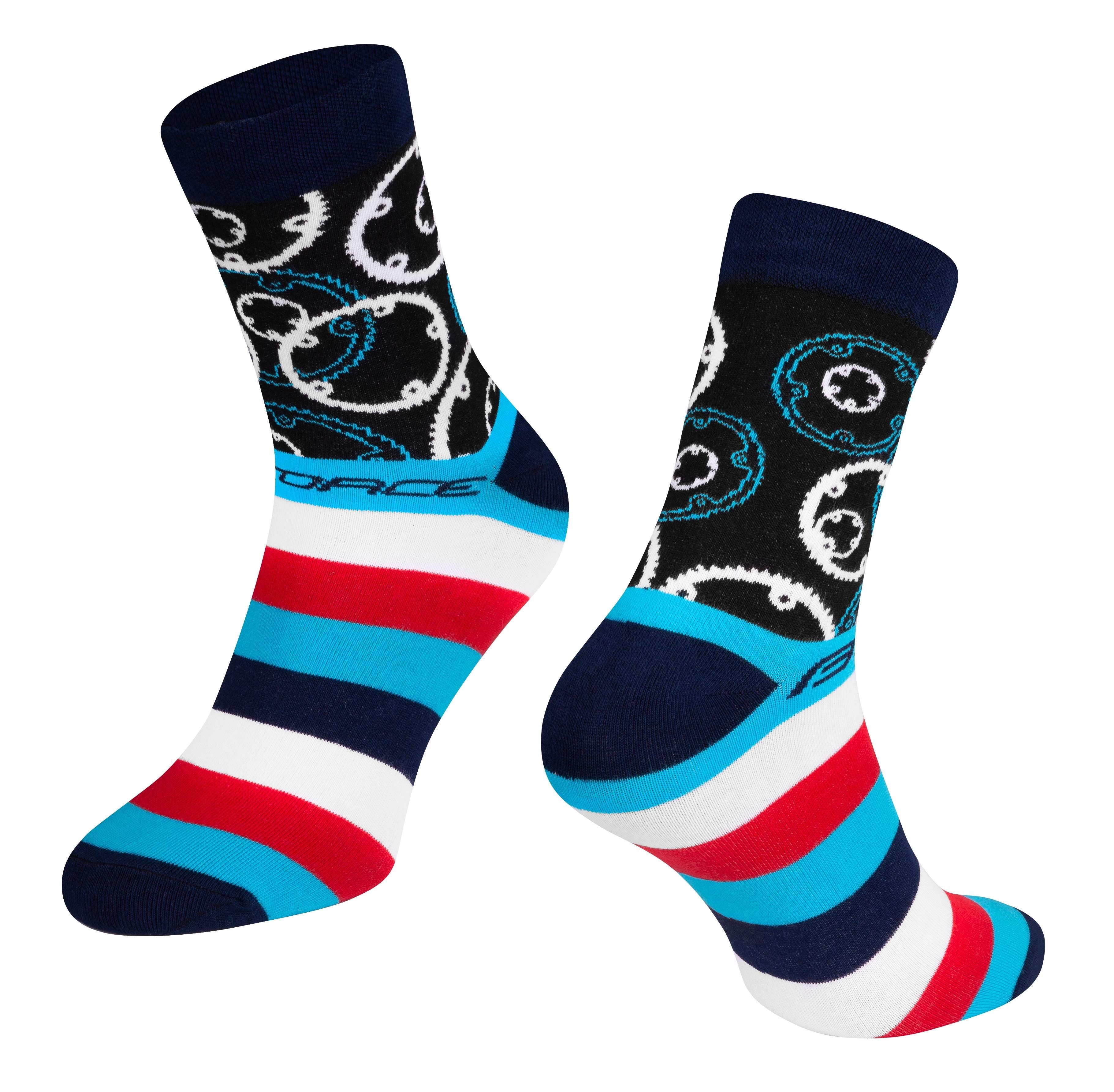 ponožky FORCE SPROCKET, modré L-XL/42-46