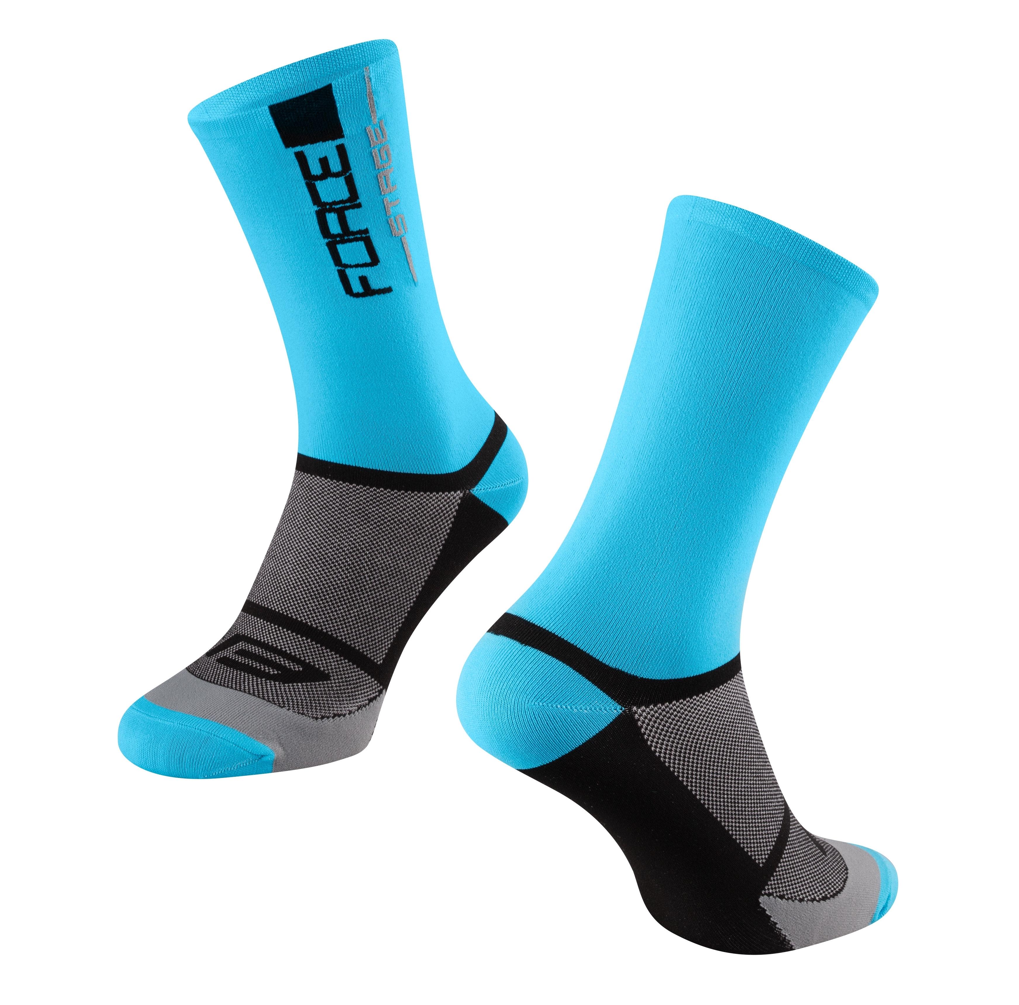 ponožky FORCE STAGE, modro-černé S-M/36-41