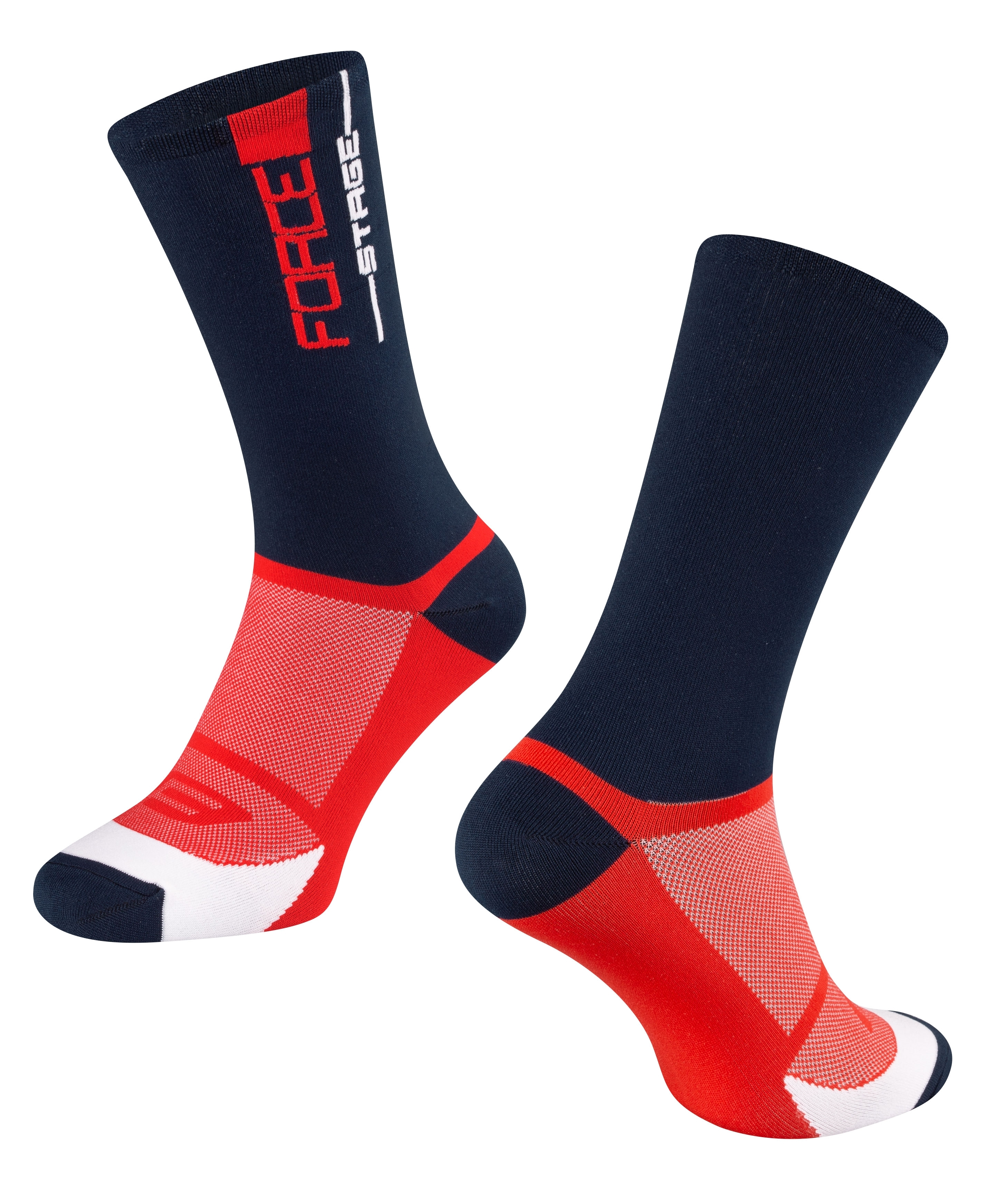 ponožky FORCE STAGE, modro-červené S-M/36-41
