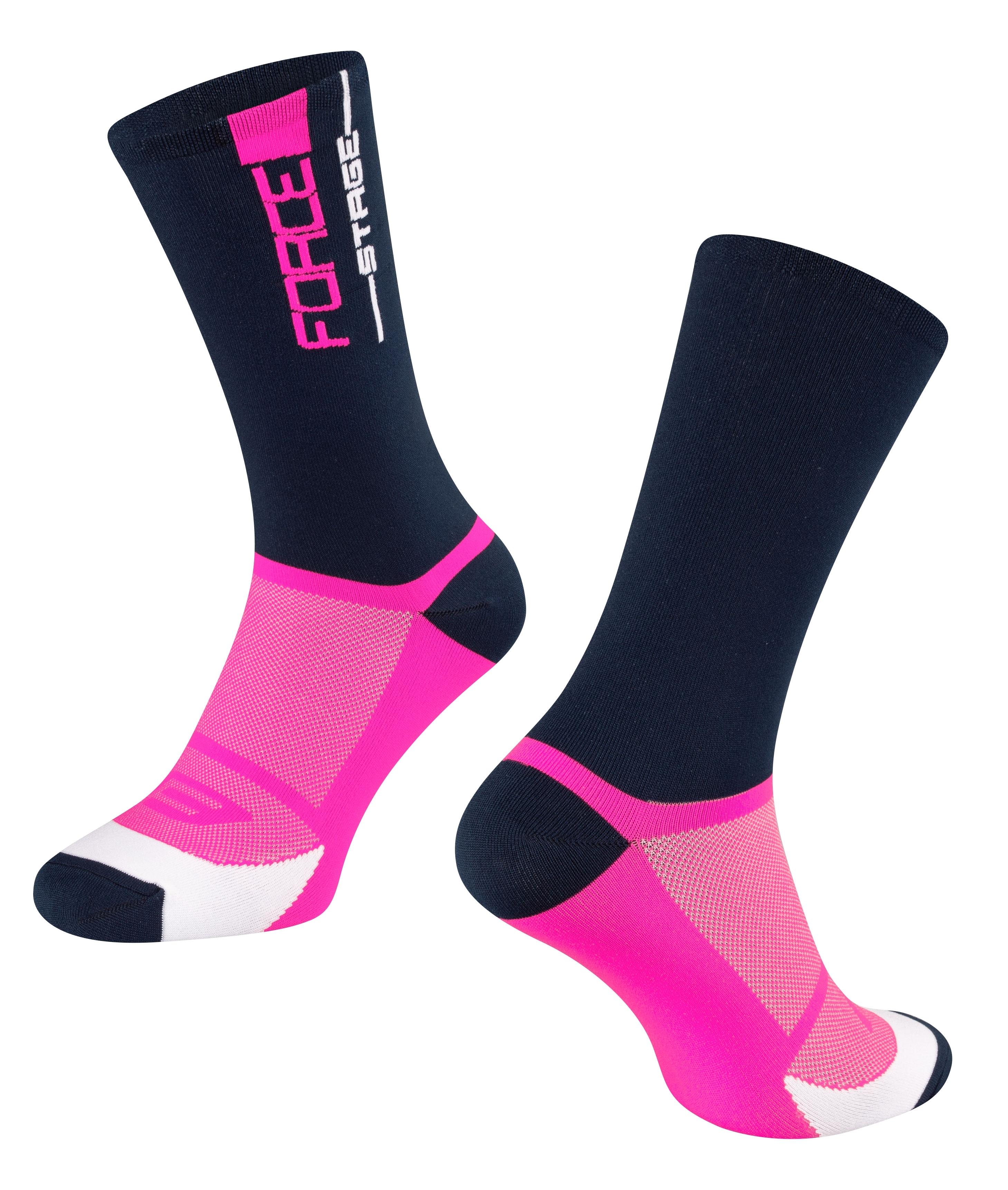 ponožky FORCE STAGE, modro-růžové L-XL/42-46