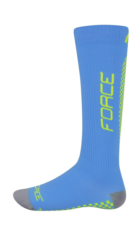ponožky FORCE TESSERA KOMPRESNÍ, modré L-XL