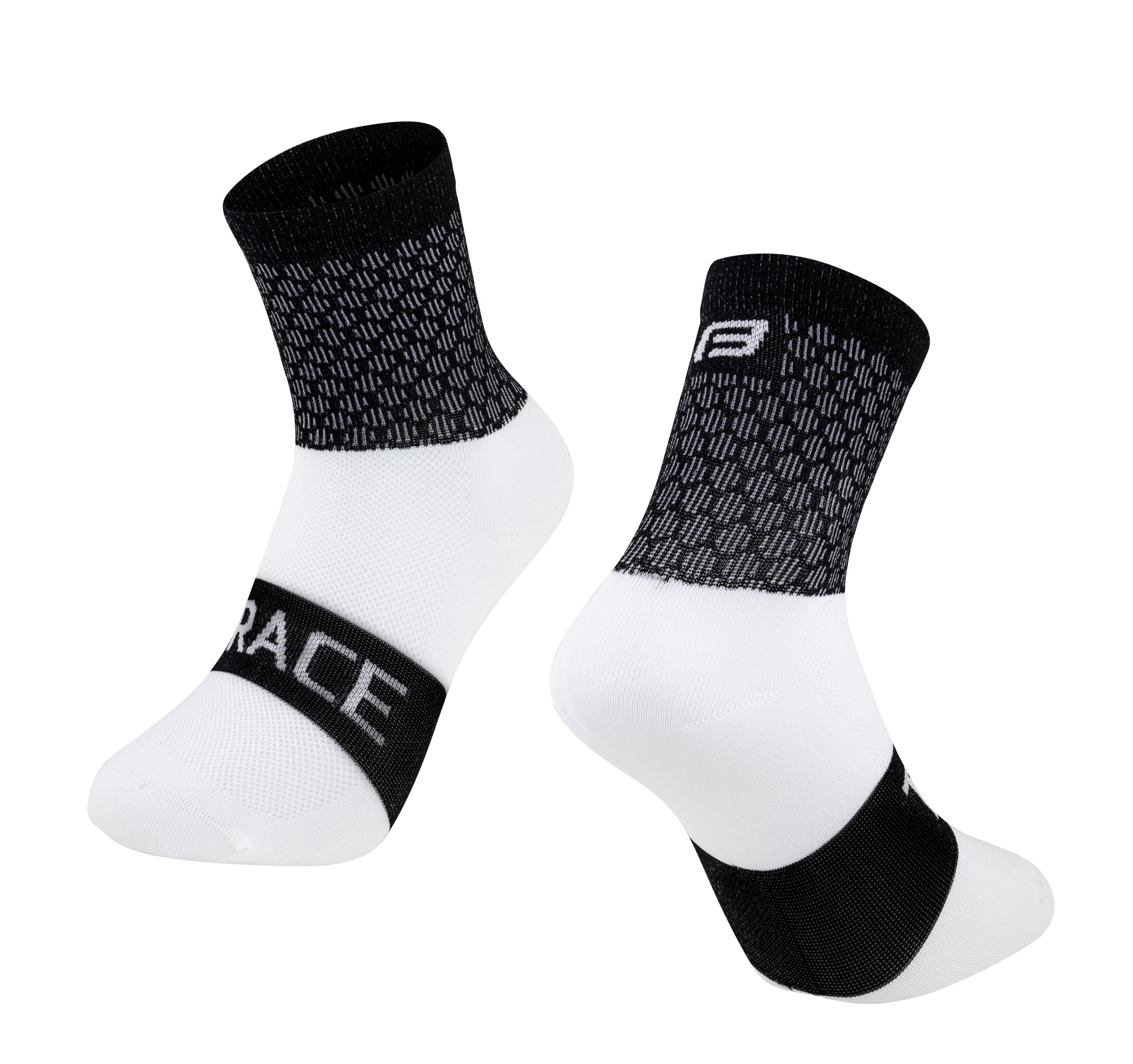 ponožky FORCE TRACE, černo-bílé L-XL/42-47