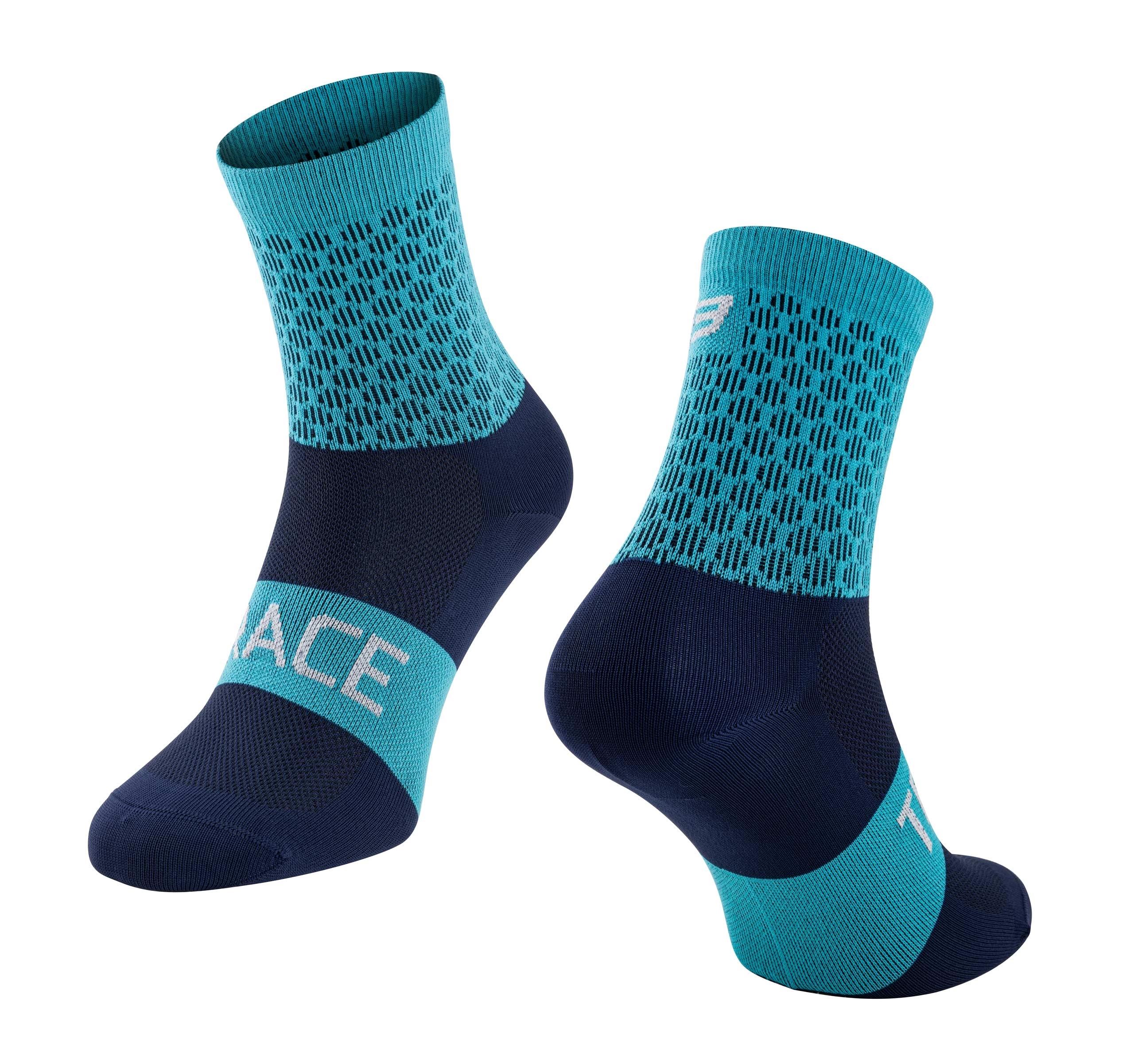 ponožky FORCE TRACE, modré L-XL/42-47