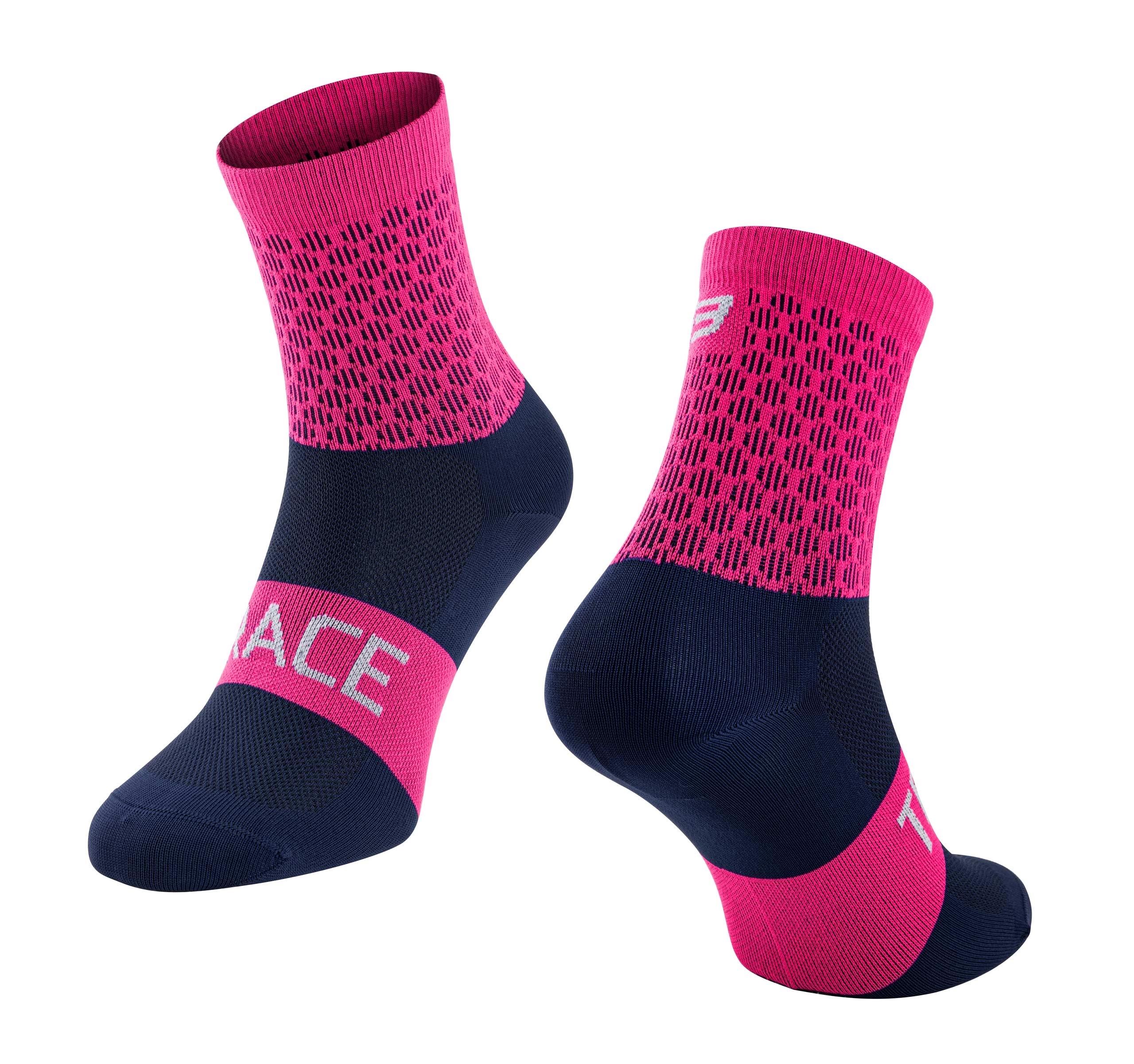 ponožky FORCE TRACE, růžovo-modré L-XL/42-47