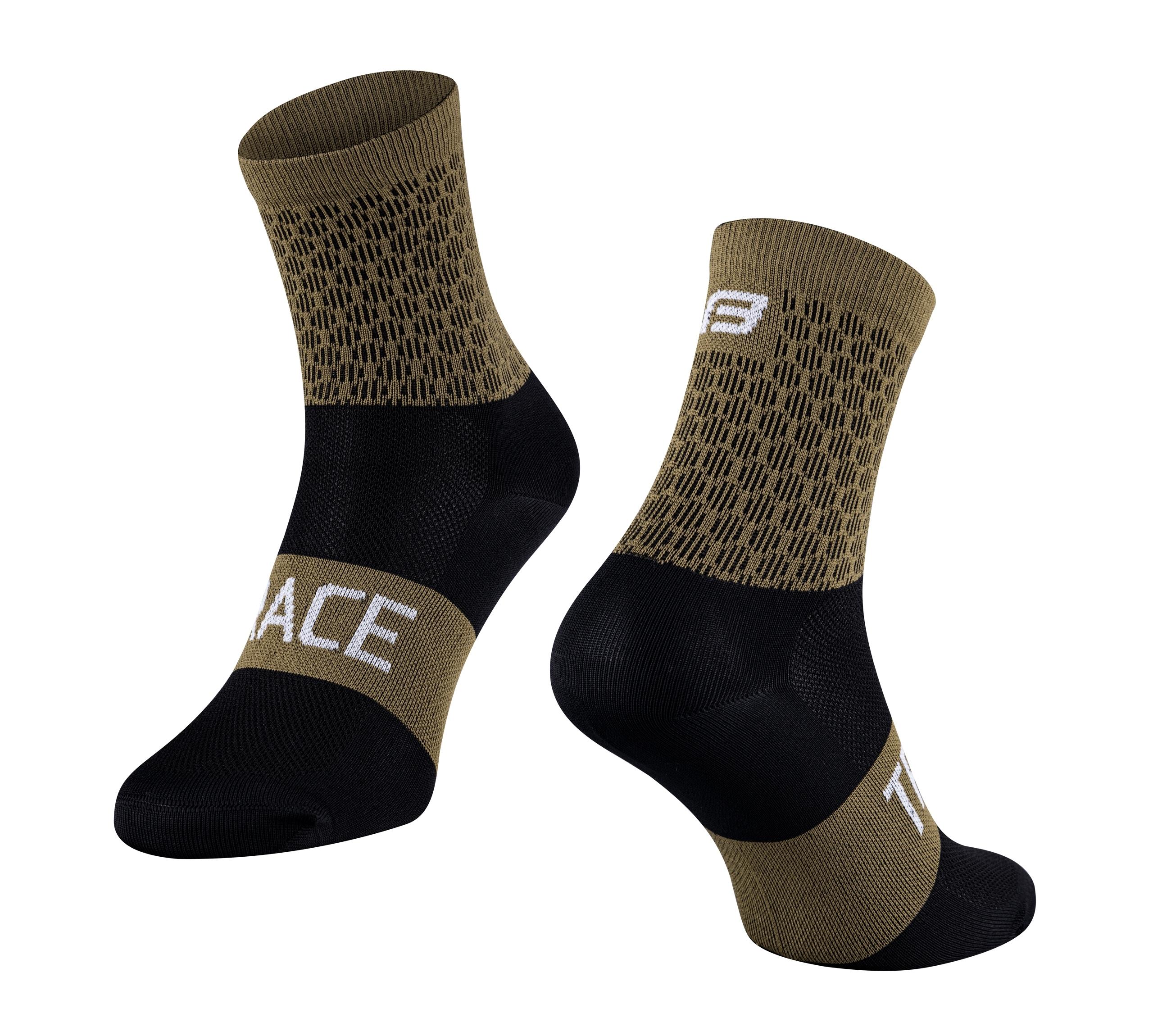 ponožky FORCE TRACE, zeleno-černé L-XL/42-47