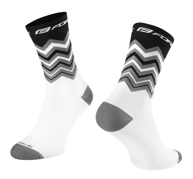 ponožky FORCE WAVE, černo-bílé L-XL/42-46