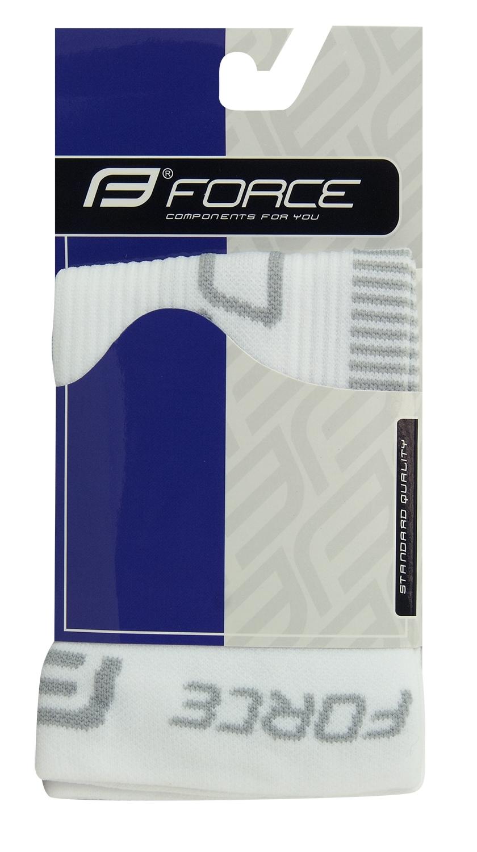 ponožky-kompresní návleky FORCE, bílo-šedé S-M