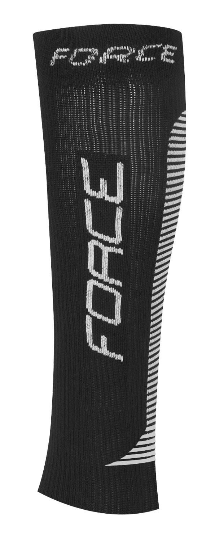 ponožky-kompresní návleky FORCE, černo-bílé L-XL