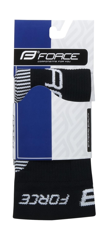 ponožky-kompresní návleky FORCE, černo-bílé S-M