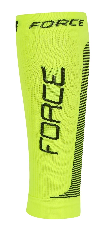 ponožky-kompresní návleky FORCE, fluo-černá L-XL