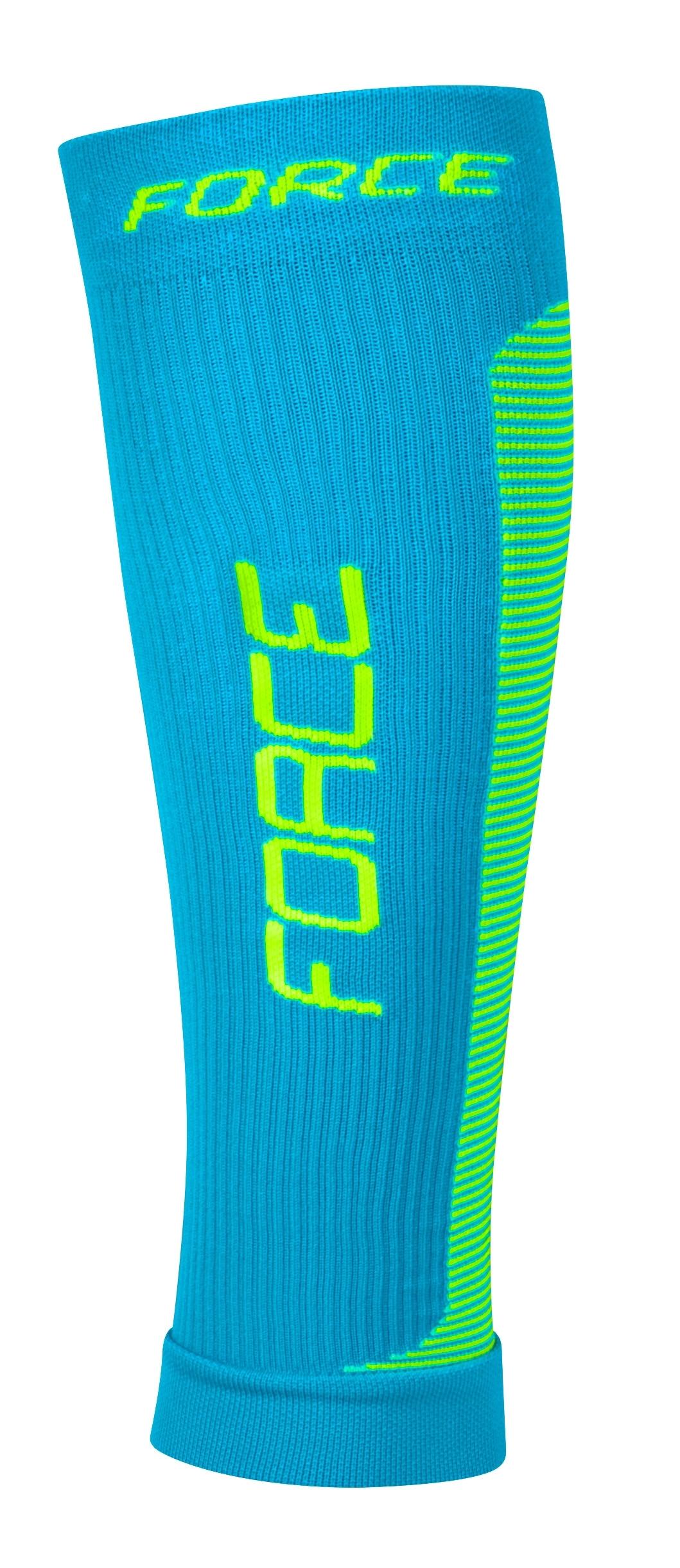ponožky-kompresní návleky FORCE,modro-fluo L-XL