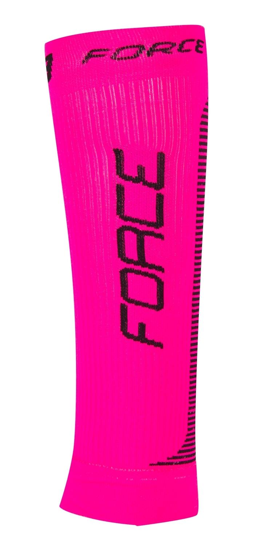 ponožky-kompresní návleky FORCE, růžovo-černé L-XL
