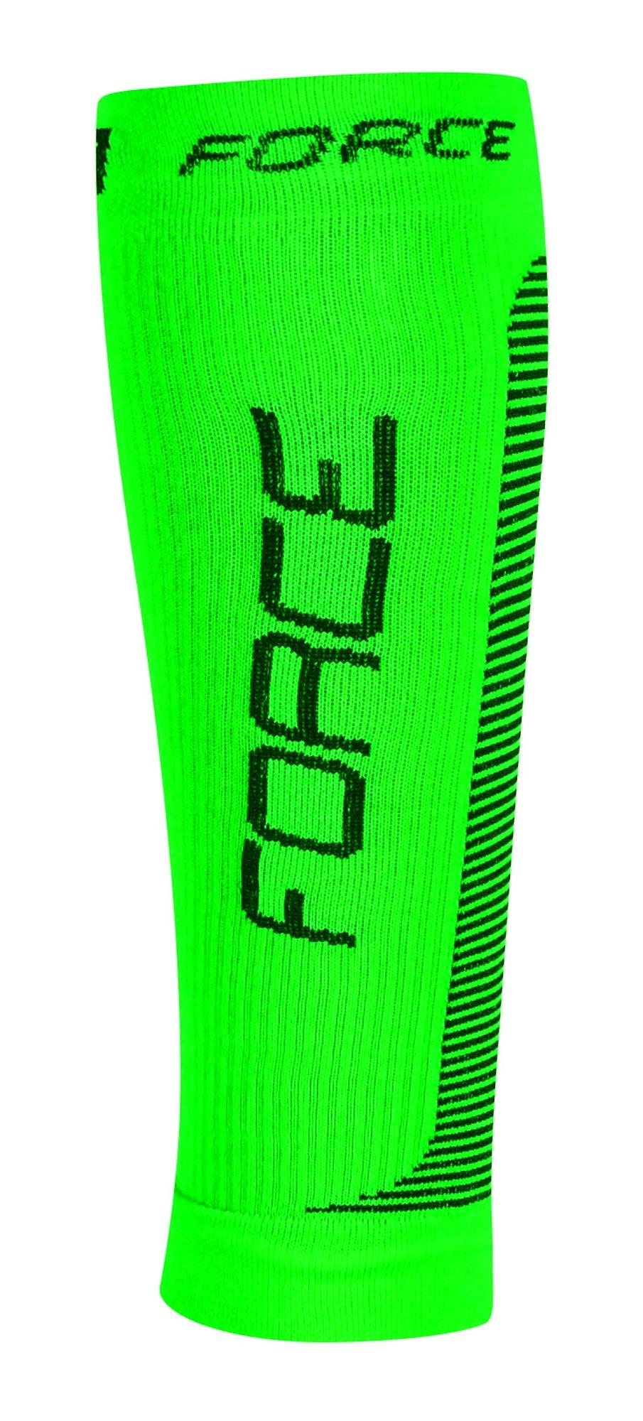ponožky-kompresní návleky FORCE,zeleno-černá L-XL