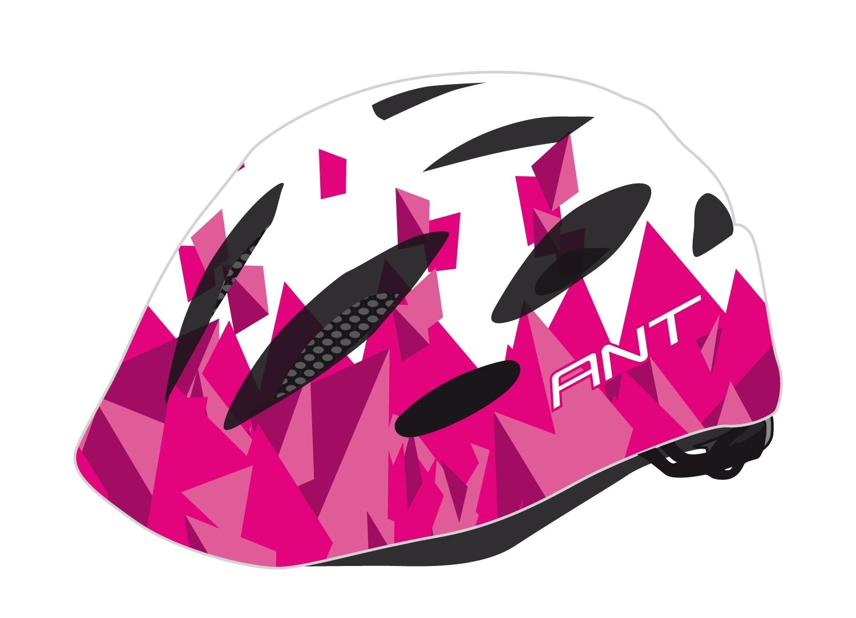 přilba FORCE ANT dětská, bílo-růžová XXS-XS