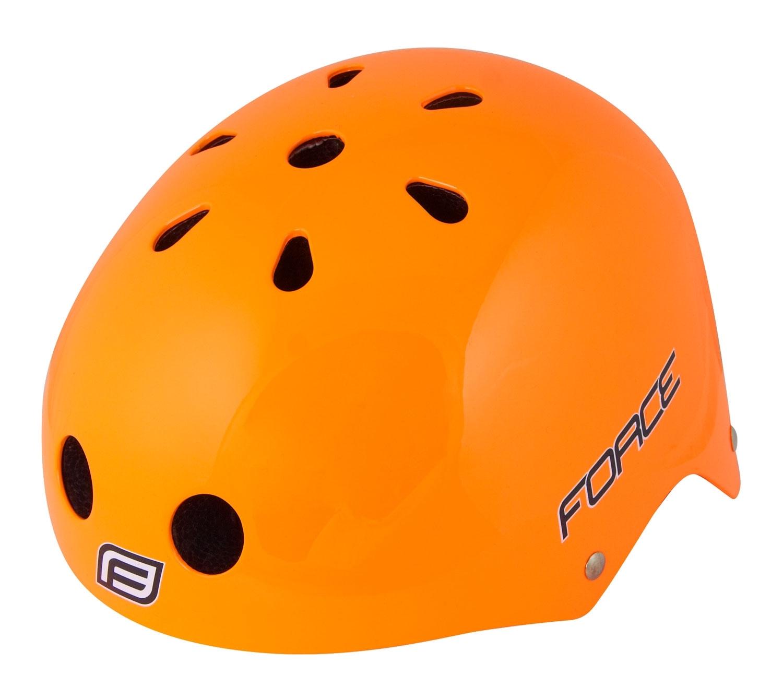 přilba FORCE BMX, oranžová lesklá S - M