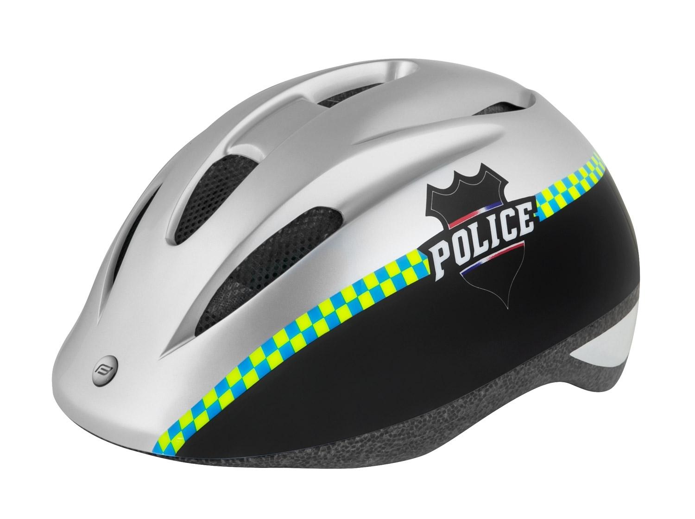 přilba FORCE FUN POLICE dětská, černo-stříbrná S