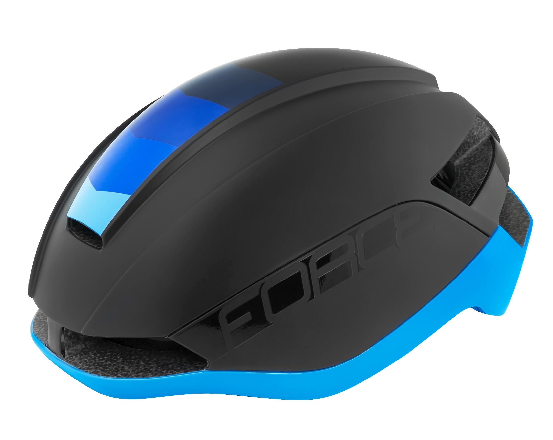přilba FORCE ORCA, černá mat-modrá, L-XL