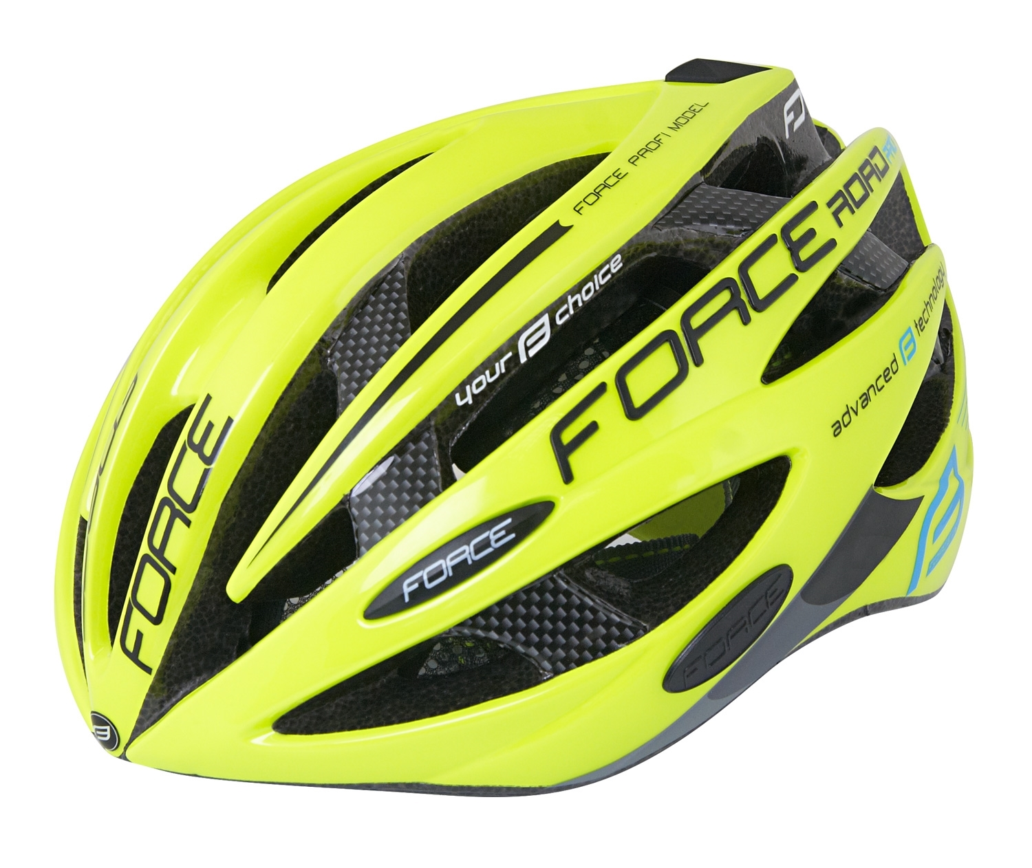 přilba FORCE ROAD PRO JUNIOR, fluo XS - S