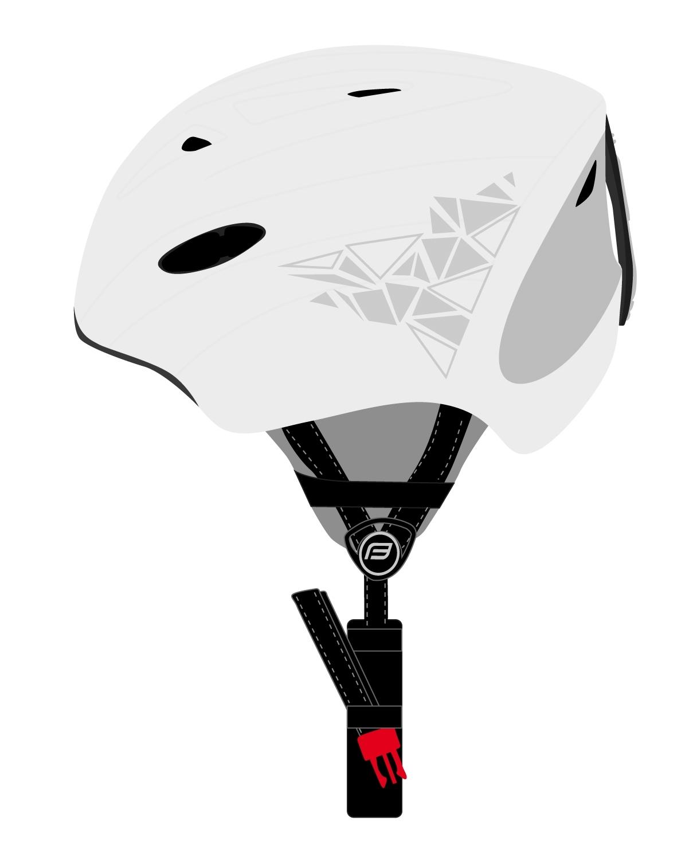 přilba FORCE SKI bílá, šedý potisk S-M