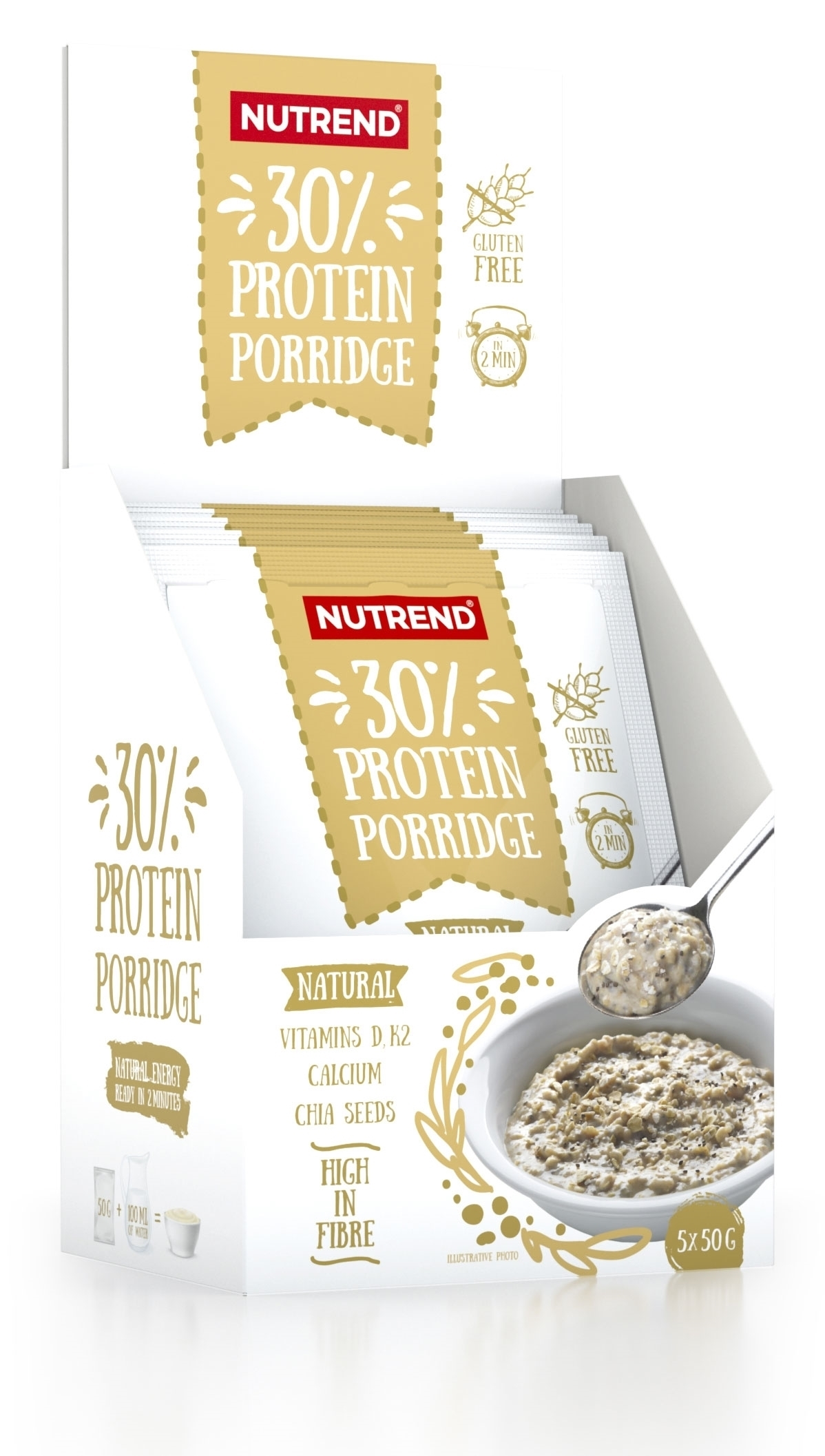 PROTEIN Porridge 5x 50 g natural-II jakost