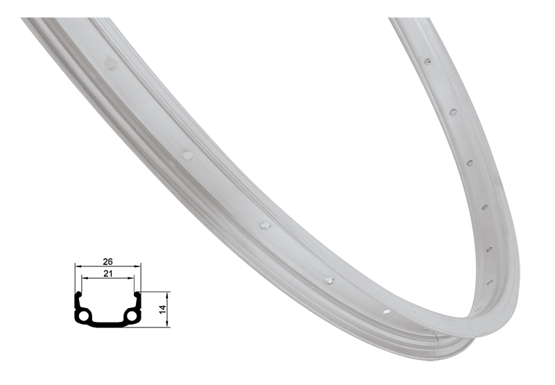ráfek REMERX RMX21 305x21 20děr, stříbrný