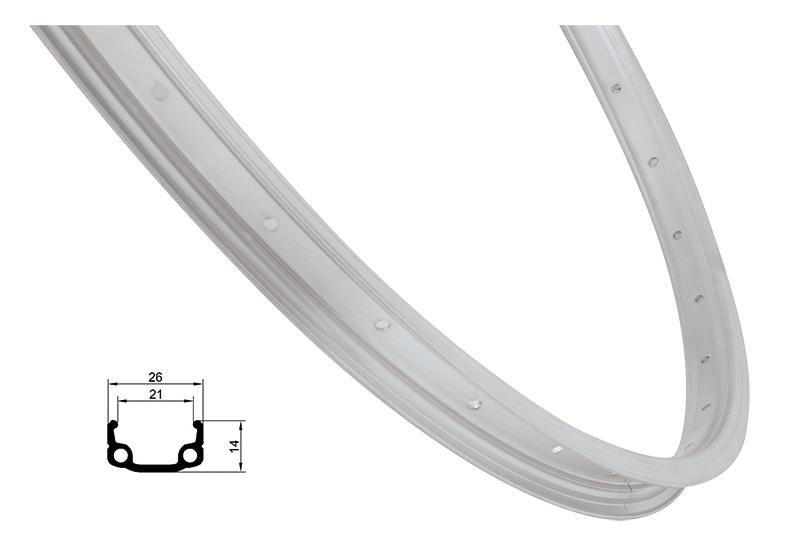 ráfek REMERX RMX21 590x21 36děr, stříbrný