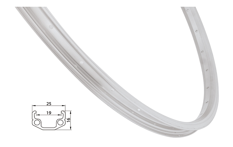ráfek REMERX RMX219 622x19 36děr, stříbrný