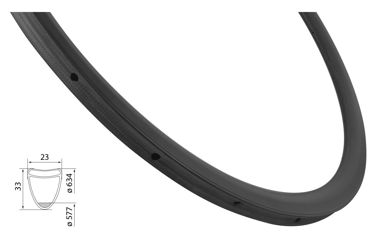 ráfek silniční galuskový KARBON 33mm, 20děr