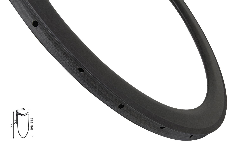 ráfek silniční galuskový KARBON DISC 55mm, 28děr