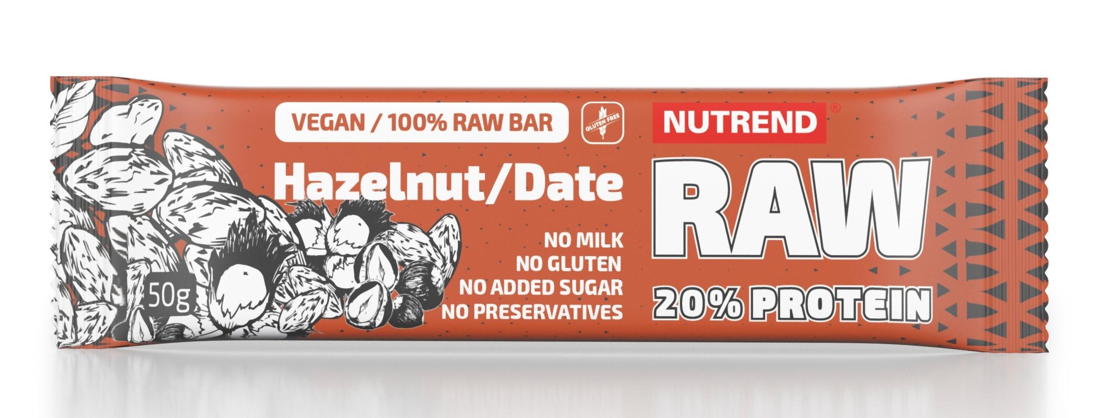 RAW PROTEIN BAR  50 g lískový ořech+datle