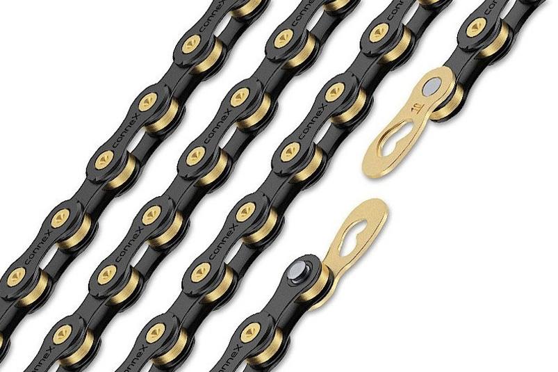 řetěz CONNEX 10sB pro 10-kolo, černo-zlatý