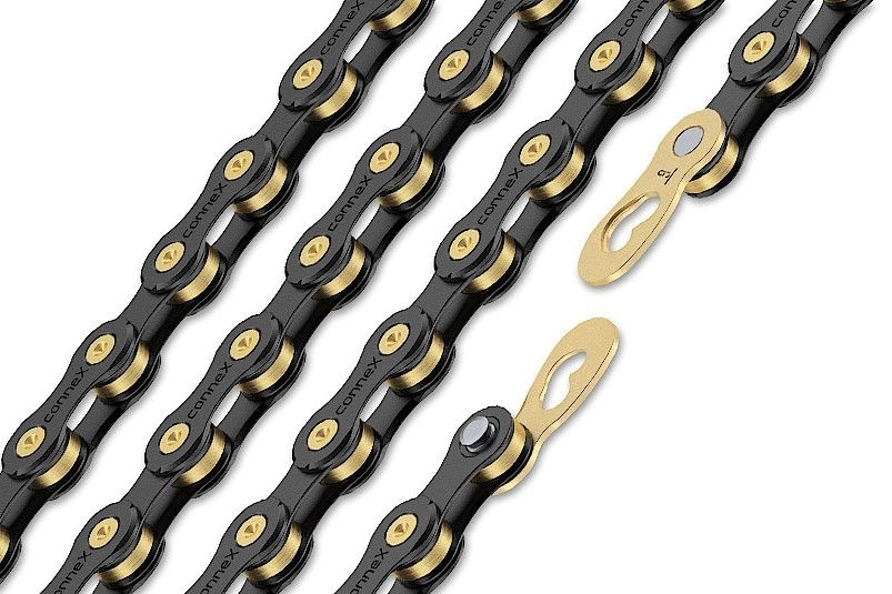 řetěz CONNEX 9sB pro 9-kolo, černo-zlatý