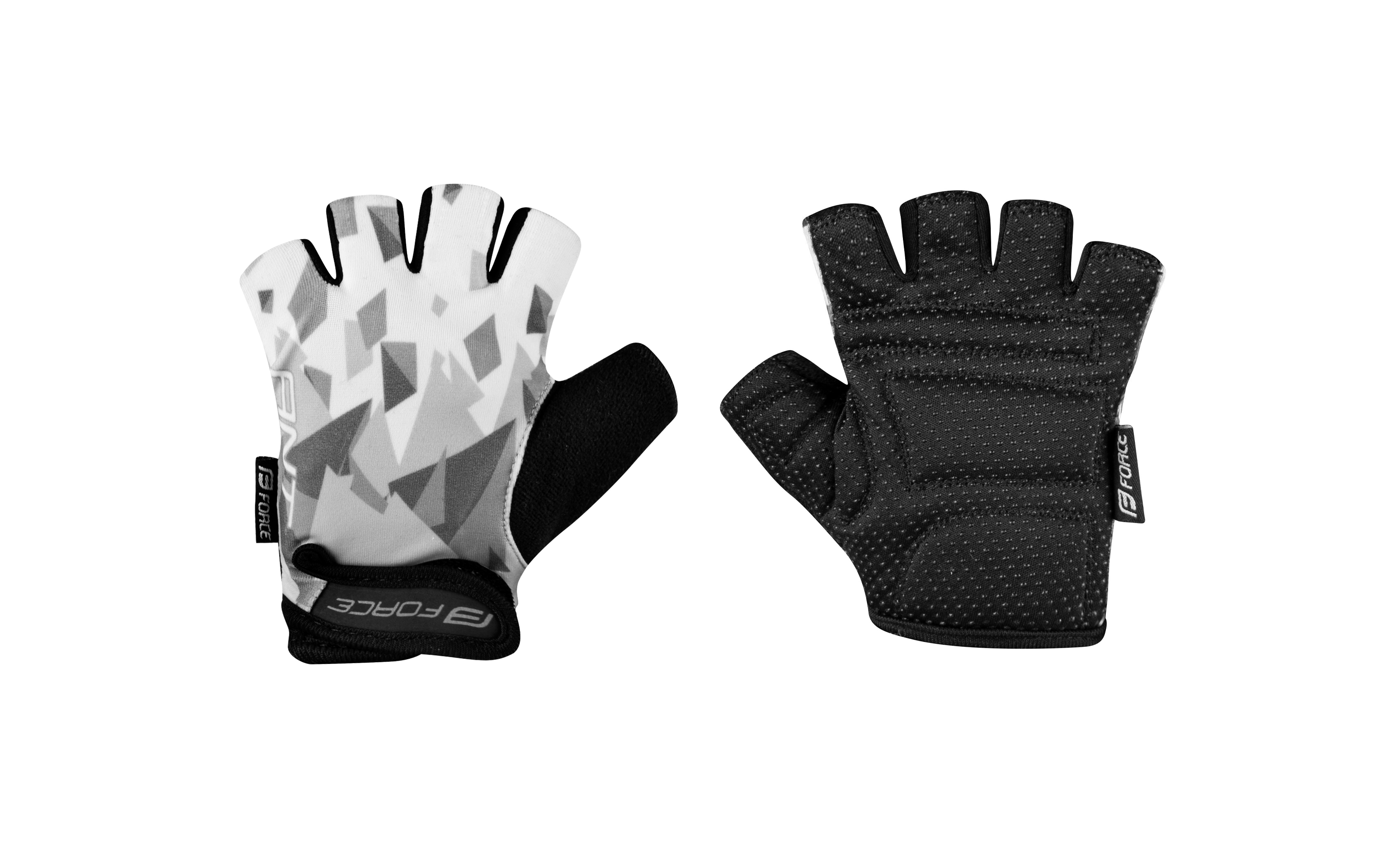 rukavice FORCE ANT dětské, šedo-bílé S