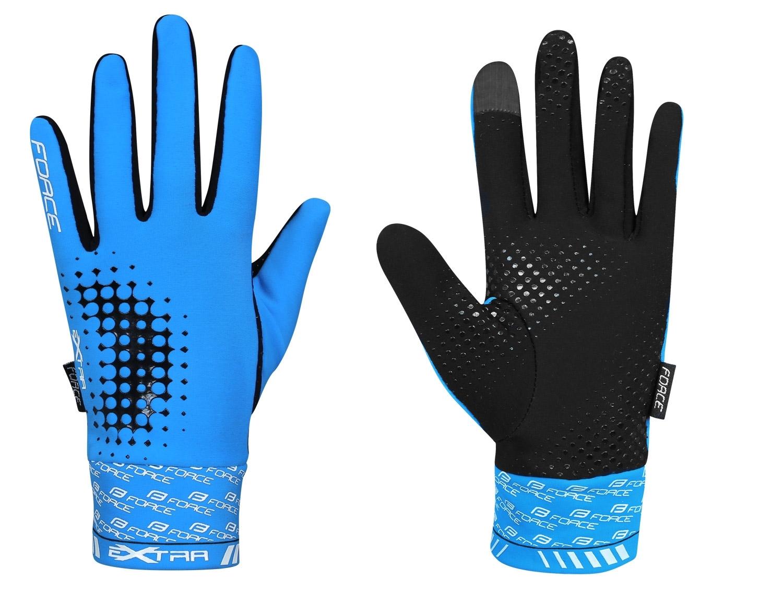 rukavice FORCE EXTRA 17, jaro-podzim, modré M
