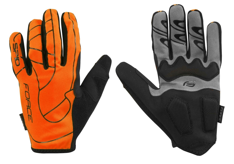 rukavice FORCE MTB SPID 16  bez zapínání,oranžová XL