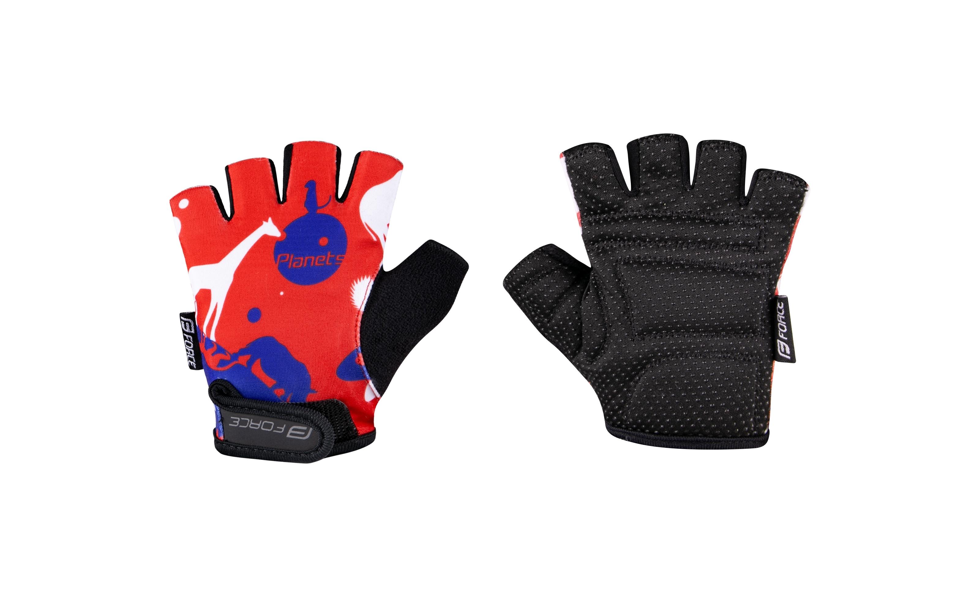 rukavice FORCE PLANETS dětské, červeno-modré XL
