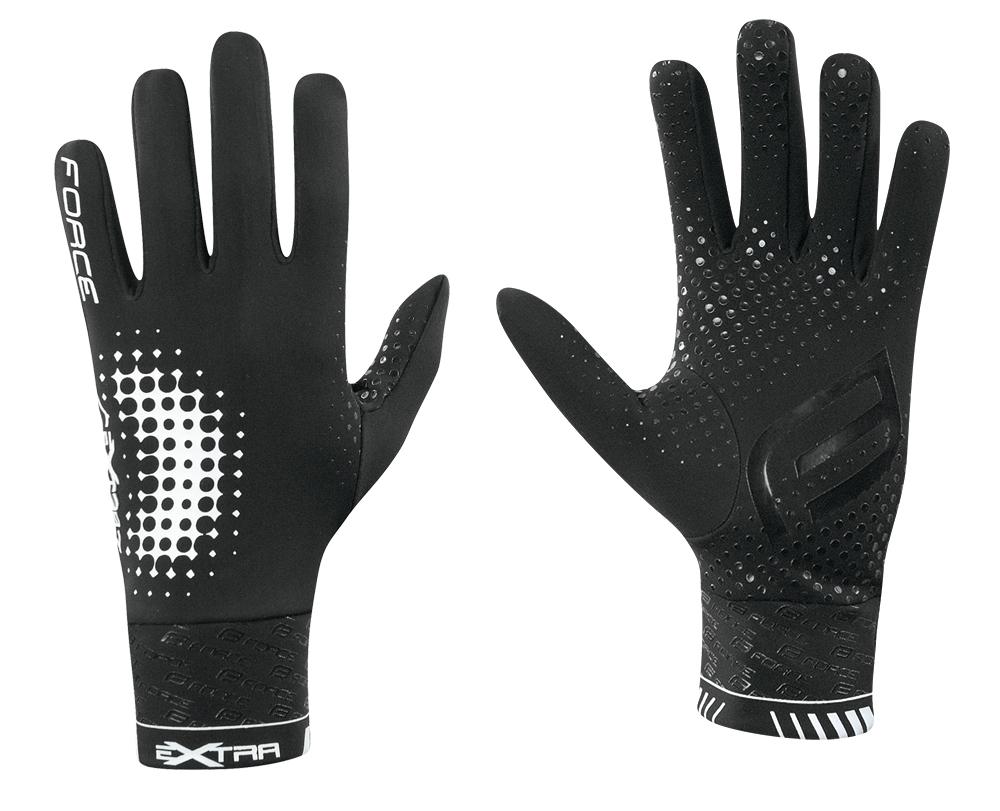rukavice FORCE EXTRA, jaro-podzim, černé S