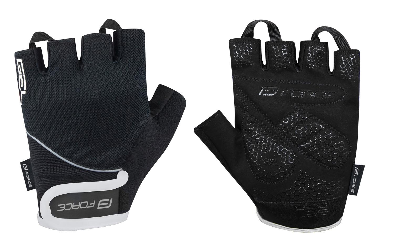 rukavice FORCE GEL, černé XL