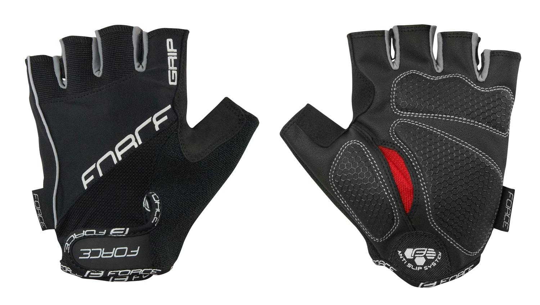 rukavice FORCE GRIP gel, černé L