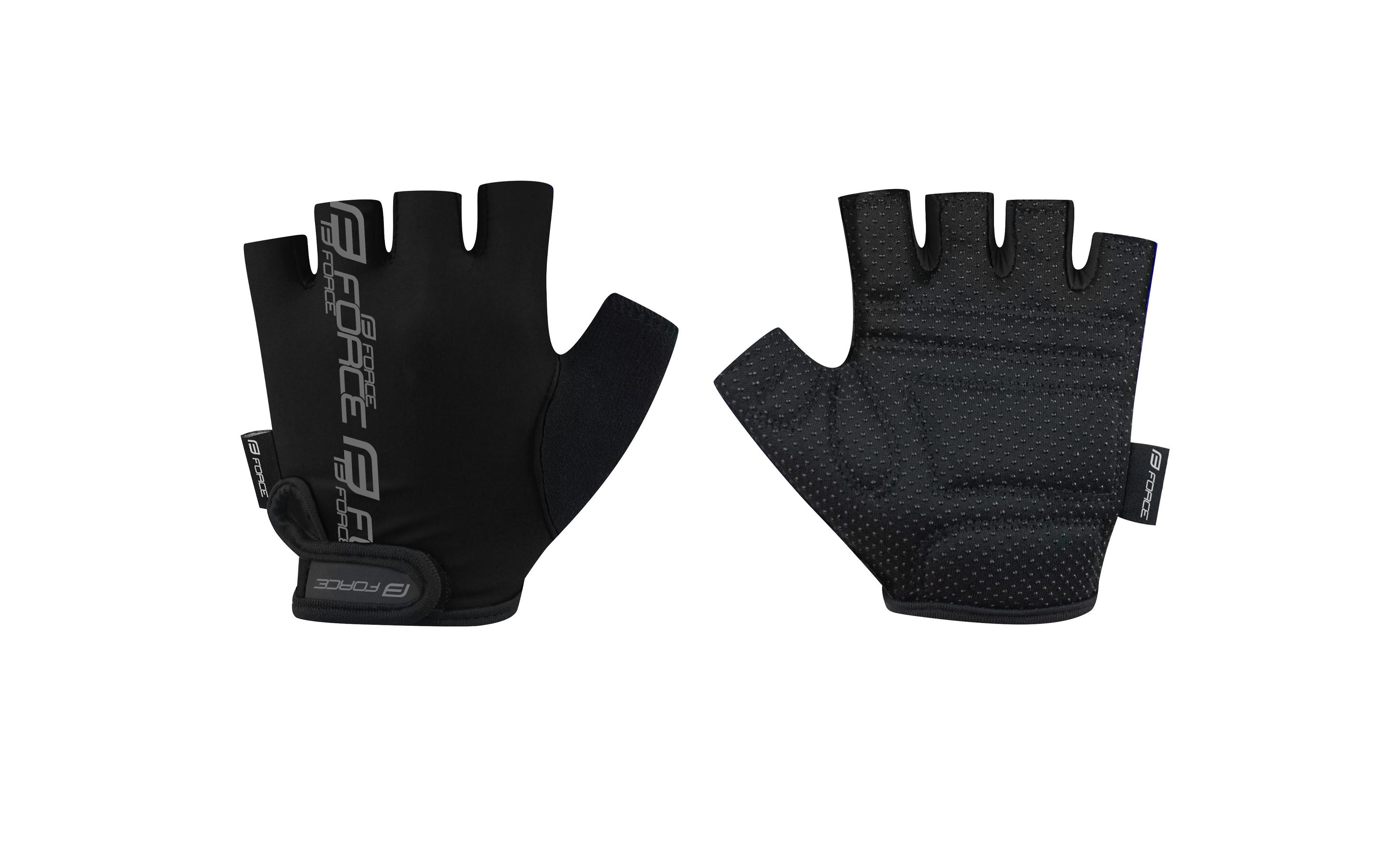 rukavice FORCE KID dětské dětské, černé L