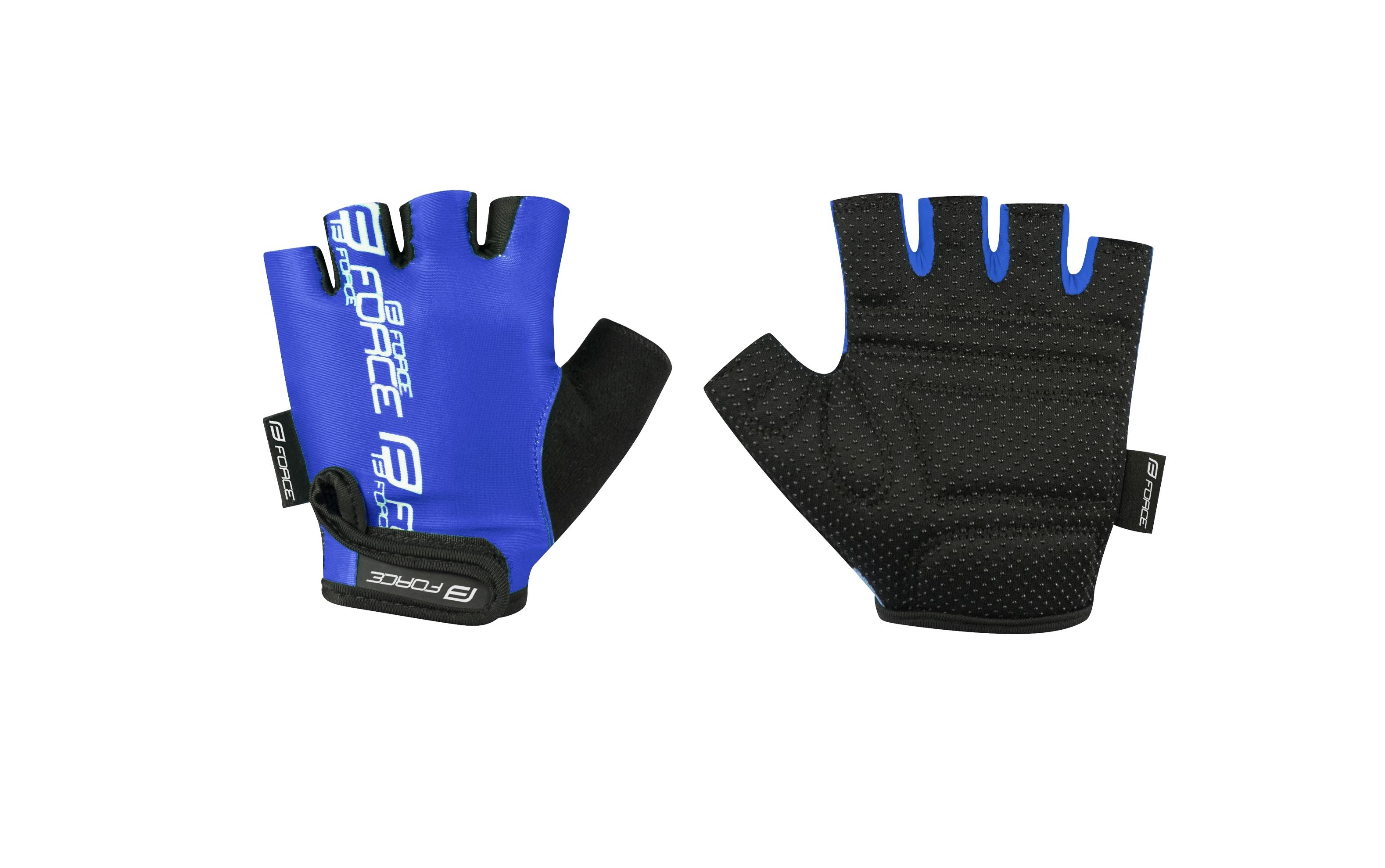rukavice FORCE KID dětské dětské, modré XL