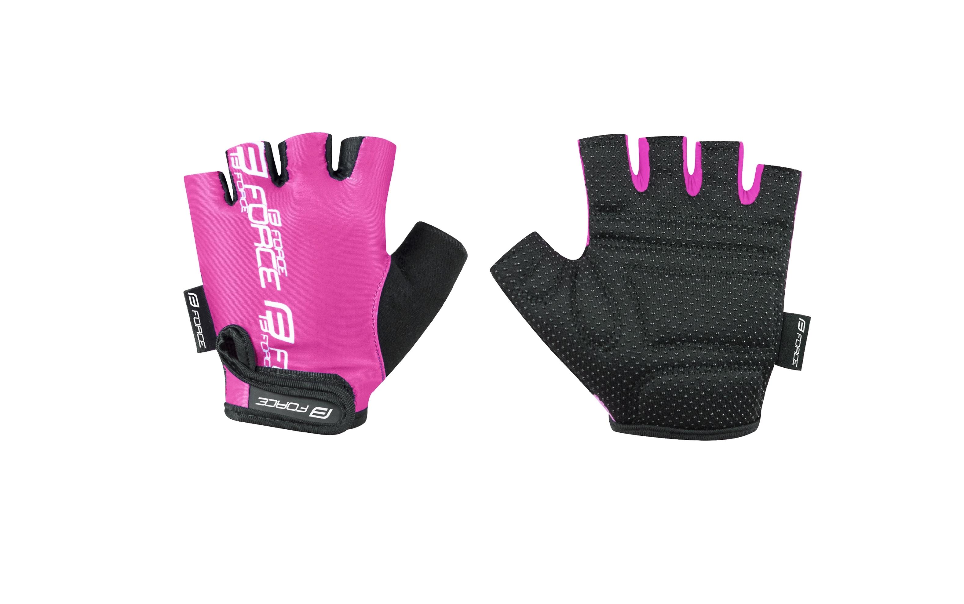 rukavice FORCE KID dětské, růžové XL