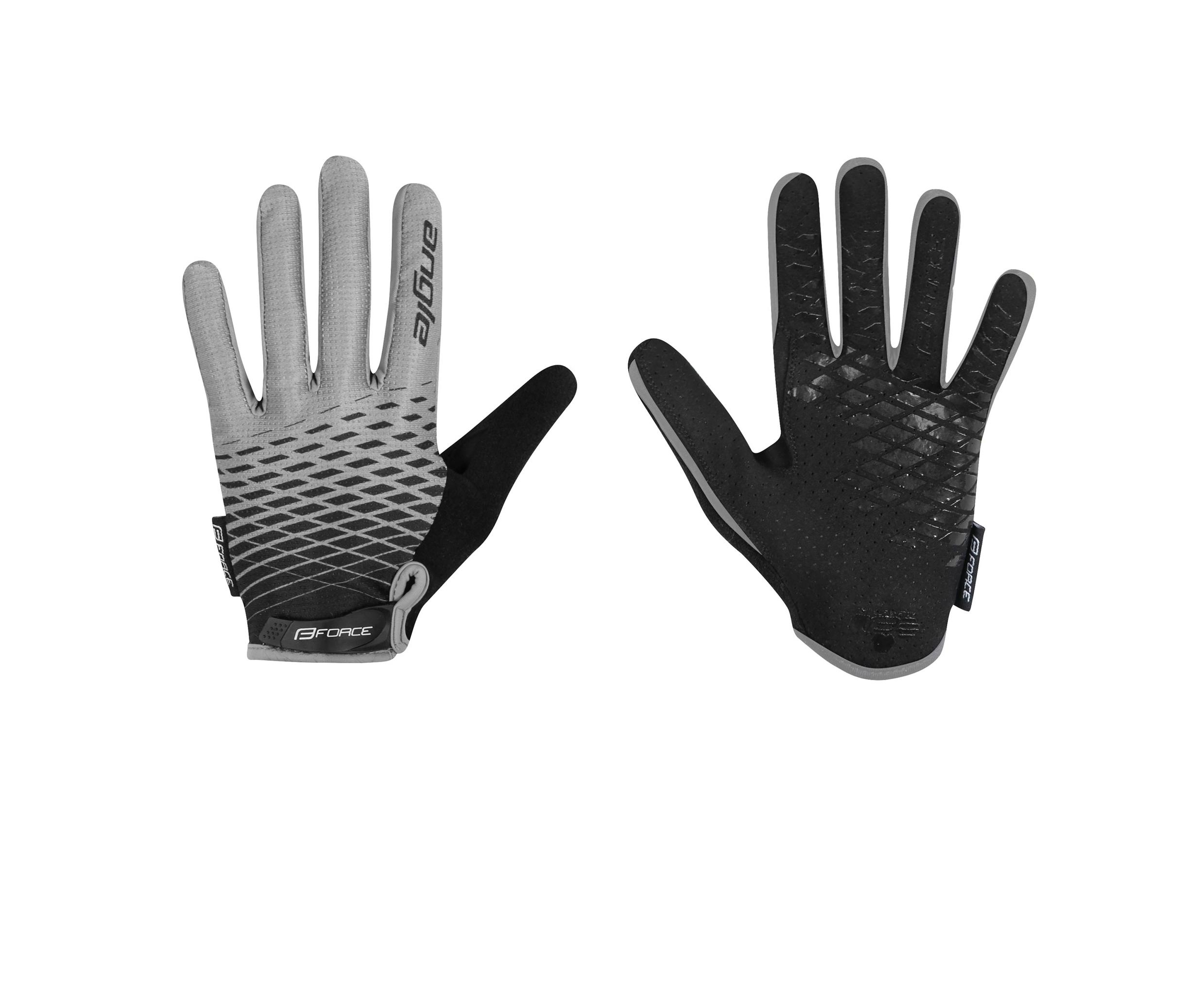 rukavice FORCE KID dětské MTB ANGLE letní, šedo-černé L
